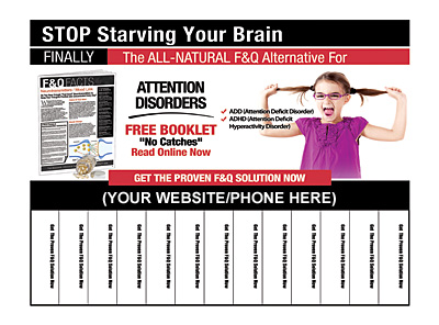 Attention Disorders Pull-Tab Flyers